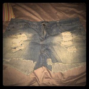 Forever 21 Plus jean short size 18